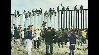 BREAKING NWO United Nations open borders Caravan MOB Invasion arrive @ USA Mexico border 11/15/18