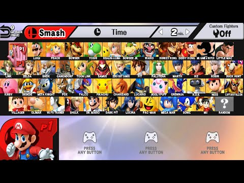 Super Smash Bros WII U All Characters And Alternate Costumes Colors WII U