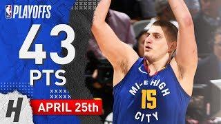 Nikola Jokic Full Game 6 Highlights Nuggets vs Spurs 2019 NBA Playoffs - 43 Pts, 9 Ast, 12 Reb!