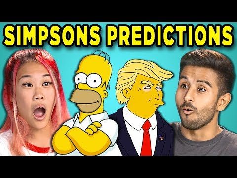 10 Mind Blowing Simpsons Predictions That Came True React