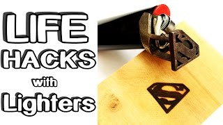 5 incredible Life Hacks with Lighters!