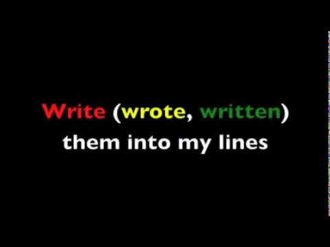 Verb Shout-out!! StickStuckStuck ESL English Irregular Verb Grammar Rap Song with Fluency MC!