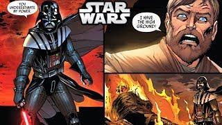 Darth Vader KILLS OBI-WAN on Mustafar! (CANON) - Star Wars Comics Explained