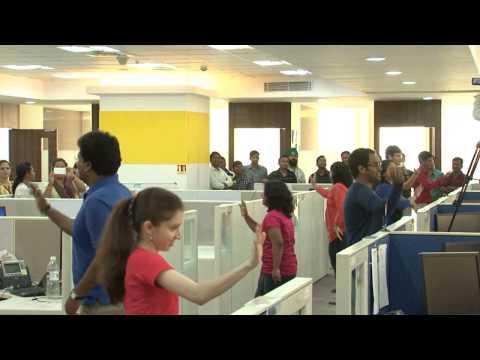 Flash Mob @ Geometric Limited, Mumbai Office
