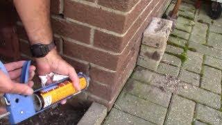 Mortar repair of brick in 1 hour - simple, easy tuckpointing caulk