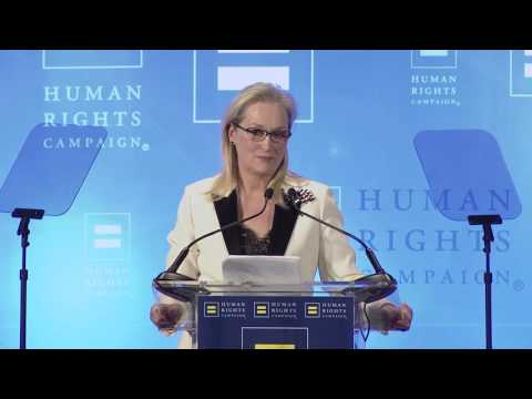 Ken Burns Presents Meryl Streep with HRC s National Ally for Equality Award