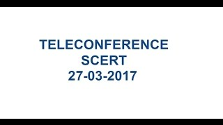 MANA TV AMARAVATI II SCERT, A.P – Remedial Teaching Programme Teleconference II 27-03-2017