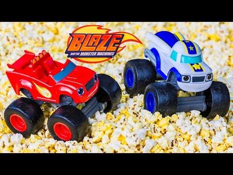 BLAZE AND THE MONSTER MACHINES Nickelodeon Blaze Popcorn Adventure a Blaze Video Parody