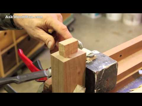 42 Tenon Cutting Demo Using Japanese Hand Saws Part 3 of 4