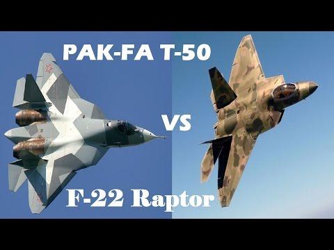 watch PAK FA T-50 vs US F-22