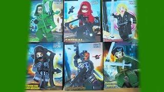 Lego DC SuperHeroes ARROW TV DeCool Bootleg 0232   0237 Review