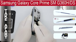 How to disassemble 📱 Samsung Galaxy Core Prime SM-G360H, Take Apart, Tutorial