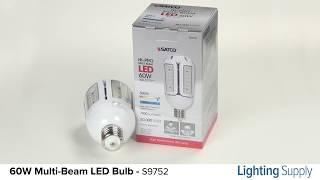 Satco 60W LED Multi-Beam Corn Cob Bulb (S9752)