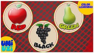 Umi Uzi | Learn Colors With Fruits | Educational Videos For Kids | Colors Song