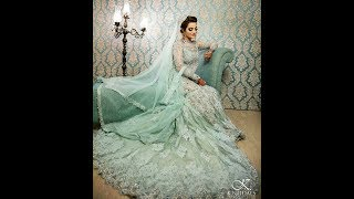 Latest Bridal Dresses Collection in Blue & Green - Pakistani Fashion