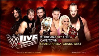 WWE Live South Africa: 18-20 April 2018