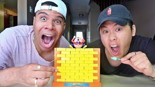 IMPOSSIBLE WALL CHALLENGE!!!! (FIRST ONE TO DROP HUMPTY DUMPTY LOSES)