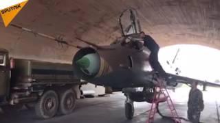 """پایگاه نظامی سوریه """"الشعیرات""""  یک روز پس از حمله موشکی آمریکا"""