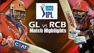 IPLT20: GL vs RCB - 24th April 2016 Match Highlights   Gujarat Lions vs Royal Challengers Bangalore