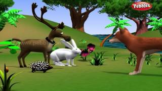 Rabbit and Hedgehog | मराठी कथा | 3D Moral Stories For Kids in Marathi | Animal Stories in Marathi
