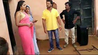 खेसारीलाल यादव और काजल राघवाणी की LIVE शूटिंग । FULL MASTI ON SET   BHOJPURI FILM 2017