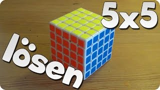 5x5 Rubik's Cube / Zauberwürfel lösen   Anfängermethode