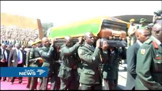 Mugabe officiates funeral of the late chief justice Chidyausiku