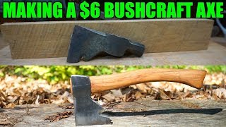 BUSHCRAFT AXE FROM AN OLD CARPENTERS HAMMER