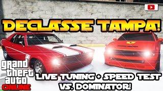 GTA 5 Online -  Declasse Tampa Live Tuning + Speed Test VS Dominator! [Festive Surprise Update 2015]