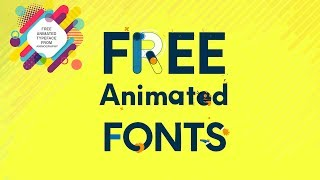 How To Download & Use Free Animated Typefaces/Fonts [MOBILO+FRANCHISE][ANIMOGRAPHY]