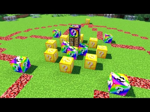 Minecraft LUCKY BLOCK HUNGER GAMES MODDED MINI GAME