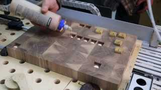 Another four Arabic end grain cutting boards