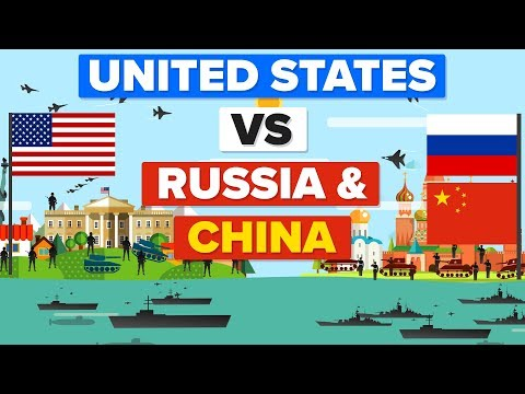United States USA vs Russia and China Who Would Win Military Army Comparison