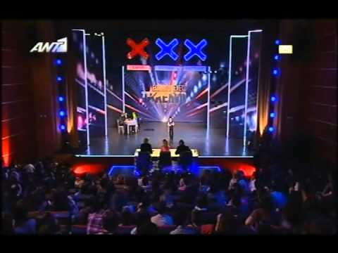 Tasos Fotiou Zeimpekiko Ellada exeis Talento 25 03 2012 Greece Got Talent Show 25 03 2012