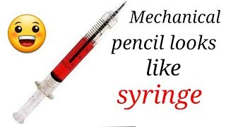 Wow a new mechanical pencil looks like a syringe