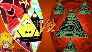 BILL CIPHER vs ILLUMINATI! (Gravity Falls vs MLG) Cartoon Fight Club Episode 159! REACTION!!!