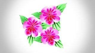 খুব সহজে কাগজ দিয়ে ফুল তৈরি করা শিখুন ! How to Make a Paper Flower Very Easily :