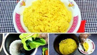 Cara Sangat Praktis Membuat Nasi Kuning Menggunakan Rice Cooker
