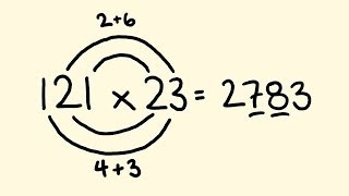 Fast Math Tricks - multiplication of two and three digit numbers.