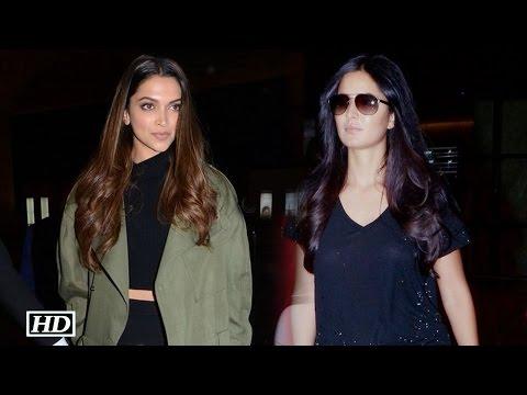 Ranbir's EXES Deepika and Katrina Spotted   Watch Video