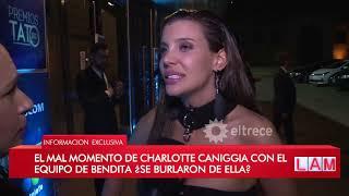 Charlotte Caniggia pasó un mal momento en un baño durante la entrega de los Premios Tato