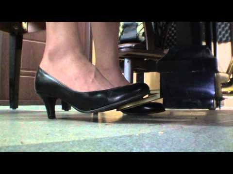 piano pedal pumping black pumps 2