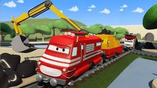 Troy o Trem e Trem de lixo na Cidade do Carro | Desenhos animados de carros caminhões para crianças