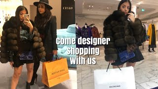 VLOG 17: COME DESIGNER SHOPPING WITH US AT SELFRIDGES | persianbunny