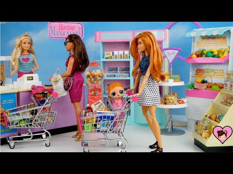 Xxx Mp4 Barbie Doll Family LOL Surprise Baby Supermarket Routine Miniature Grocery Shopping Cart 3gp Sex