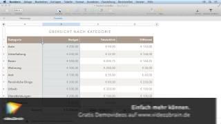 Tabellenkalkulation mit Numbers Tutorial: Der Formeleditor |video2brain.com
