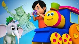 Bob der Zug | Um die Welt | Kinderreime für Kinder | Deutsch Kinderlied | Bob Around the World