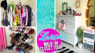 MY WALK-IN CLOSET TOUR 2016 || Larissa D'Sa