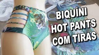 Biquíni Hot Pants com Tiras | Vídeo Aula passo a passo