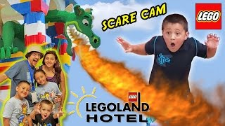LEGOLAND HOTEL Grand Opening in Florida + DRAGON SCARE CAM! (Best Day Ever w/ Amusement Park Fun!)